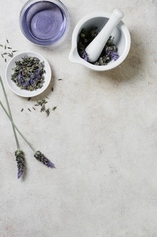 Lavendel in schalen kopieren platz