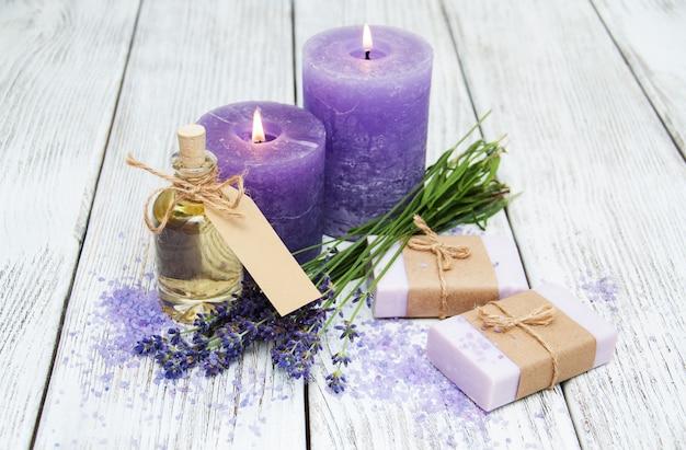 Lavendel mit seife