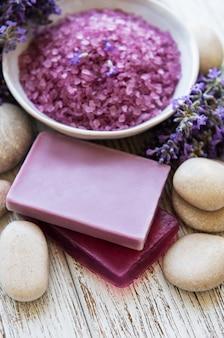 Lavendel-spa-konzept