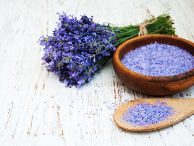Lavendel und salz