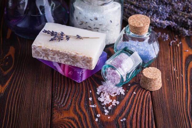 Lavendelseife und meersalz