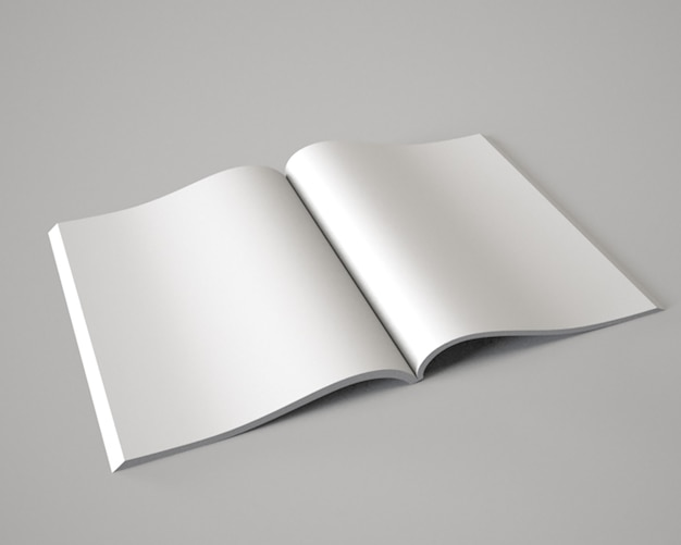 Le magazine ouvert livre livret broschüre illustration 3d raliste mock-up