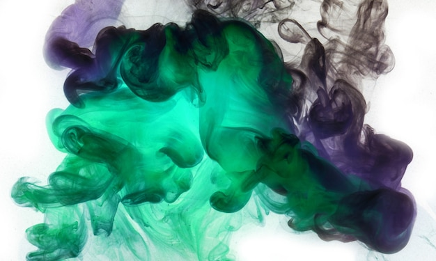 Lebendige farben, abstrakter heller rauchhintergrund. farbspritzer im wasser, bunte wolke in bewegung. konzept shisha, parfüm hintergrund, tanz tapete