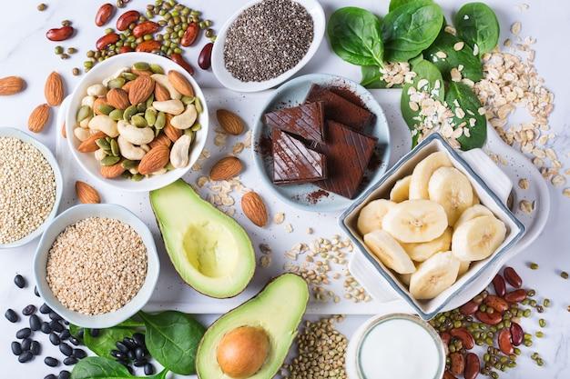 Lebensmittel, die reich an magnesium sind, gesunde ernährung und diät