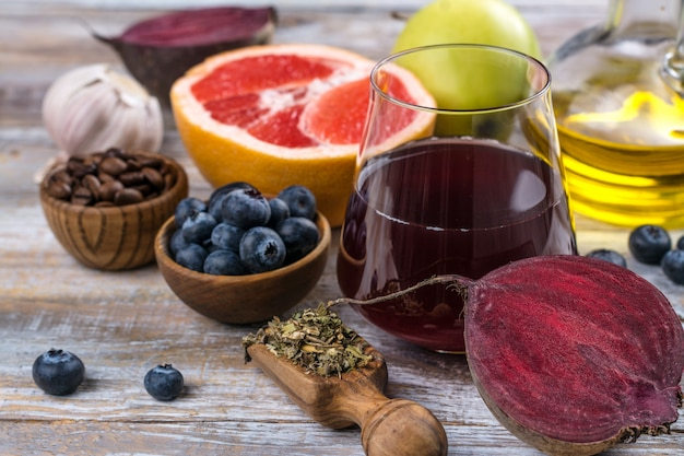 Lebensmittel für eine gesunde leber