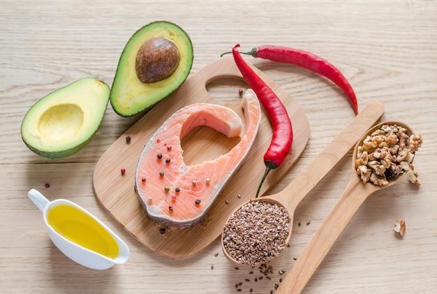 Lebensmittel mit ungesättigten fetten