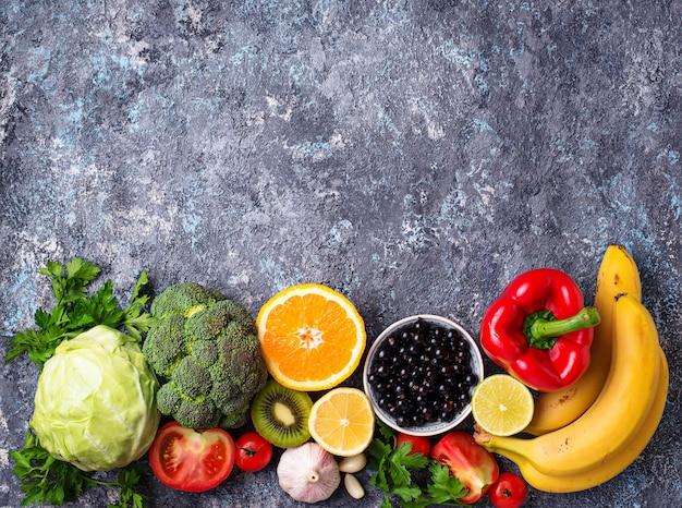 Lebensmittel reich an vitamin c. gesundes essen