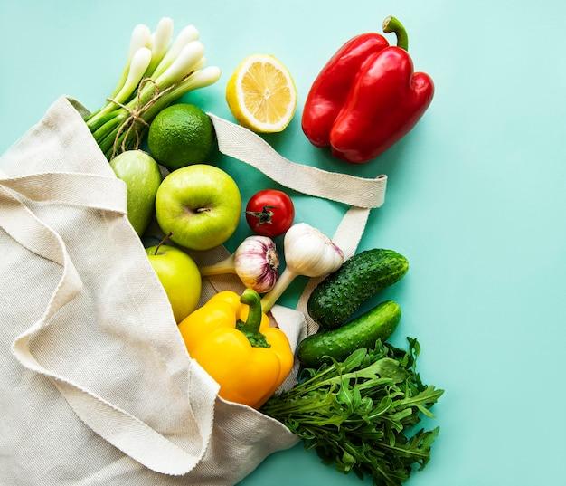 Lebensmitteleinkauf ohne abfall.