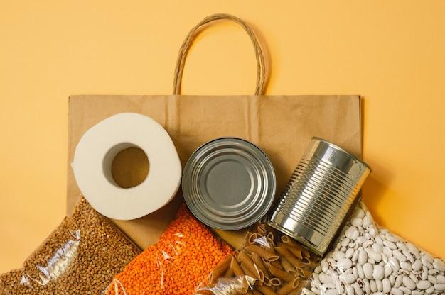 Lebensmittellieferung, spende, coronavirus