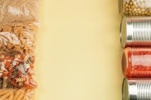 Lebensmittellieferung, spendenkonzept. speicherplatz kopieren