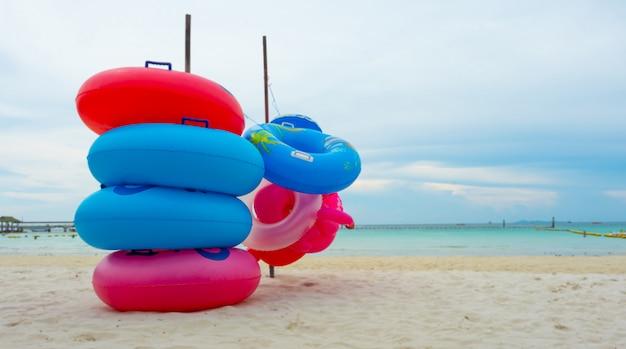 Lebensring am strand