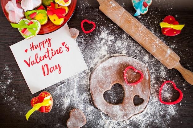 Lebkuchen kochen als geschenk zum valentinstag
