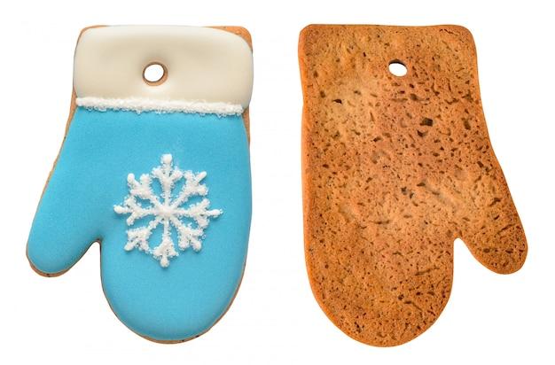 Lebkuchenhandschuh lokalisiert auf weiß