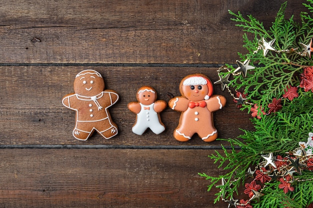 Lebkuchenmann kekse kekse weihnachtskuchen lebkuchen hausgemachte kuchen süßes dessert