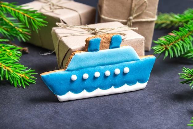 Lebkuchenschiff, weihnachtskonzept