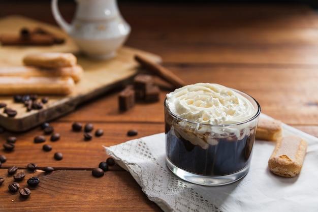 Lecker kaffee nachtisch