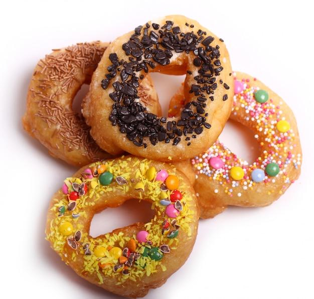 Leckere bunte donuts