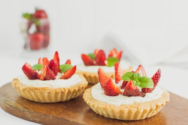 Leckere erdbeer-torte