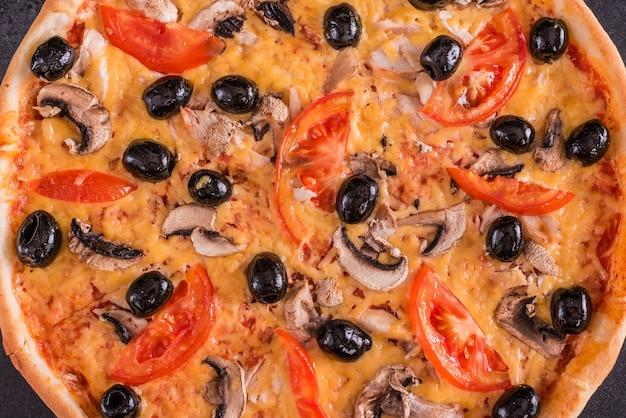 Leckere frische heiße pizza