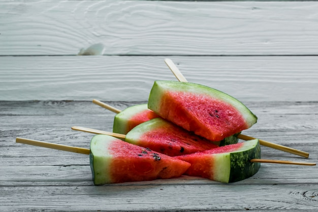 Leckere frische wassermelone. eis mit wassermelonen