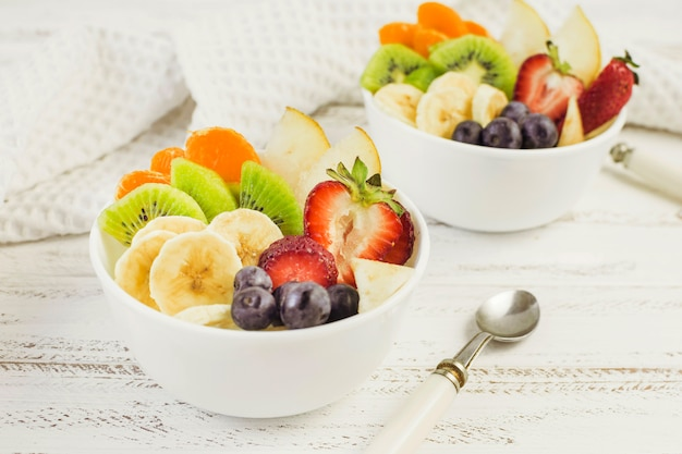 Leckere fruchtsalate