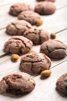 Leckere gebackene schokoladenplätzchen