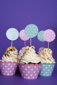 Leckere geburtstag cupcakes