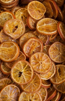 Leckere getrocknete orangen