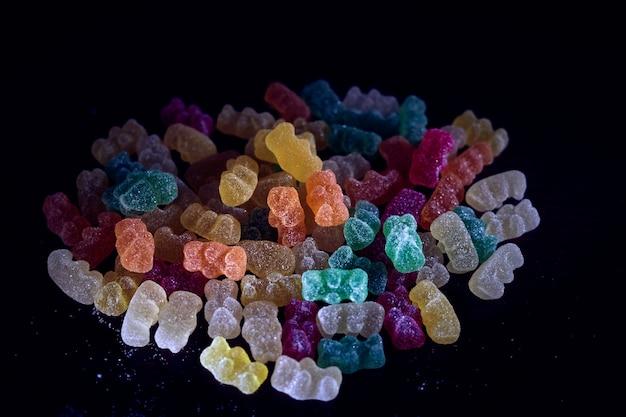 Leckere gummibärchen in vielen farben