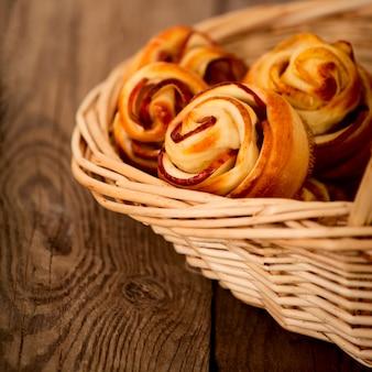 Leckere hausgemachte apfelkuchen