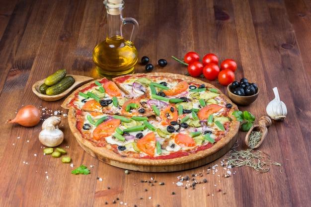 Leckere hausgemachte pizza