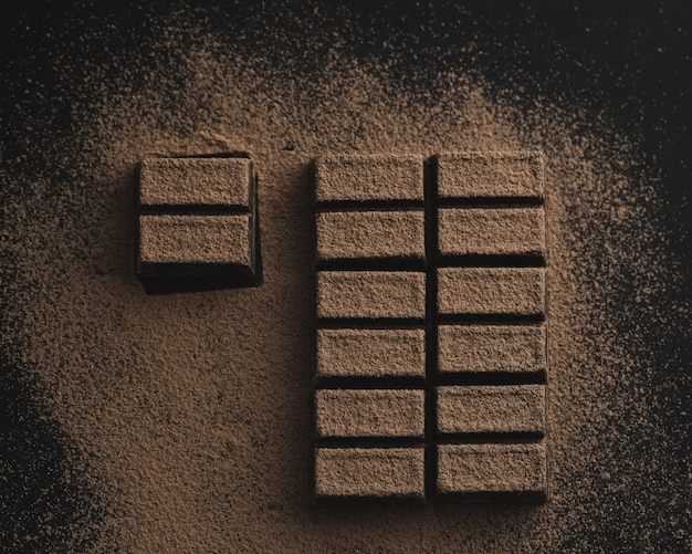 Leckere hausgemachte schokoladentafel