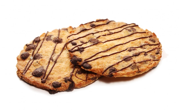 Leckere kekse mit schokolade