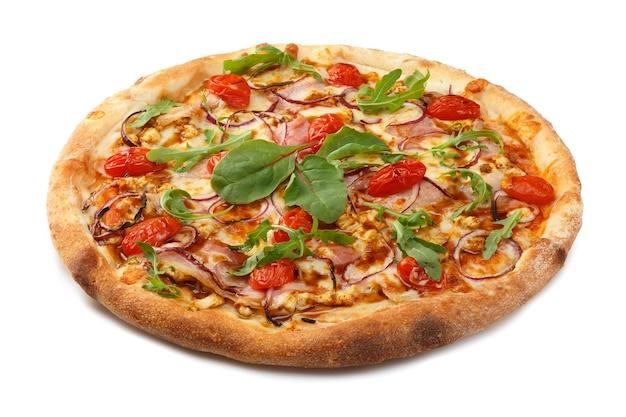 Leckere klassische italienische pizza mit mozzarella