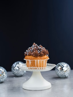 Leckere muffin- und discokugeln
