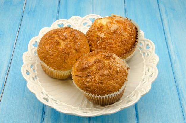 Leckere muffins zum frühstück