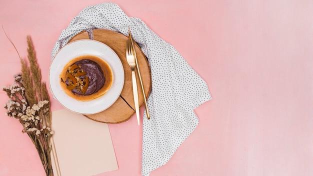 Leckere pfannkuchen mit textfreiraum