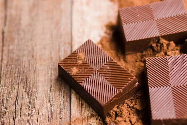 Leckere schokoladen- und kakaokrümel