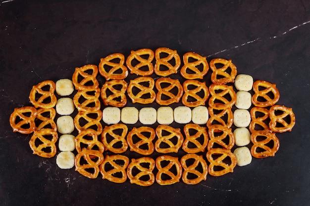 Leckere snacks zubereitet für super bowl hautnah
