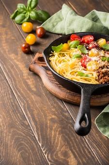 Leckere spaghetti bolognaise