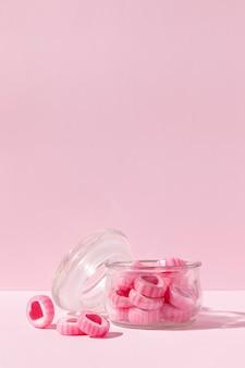 Leckere süßigkeiten in herzform