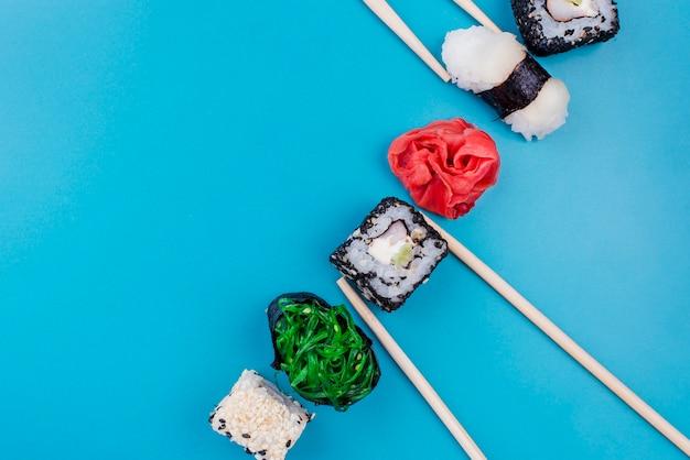 Leckere sushi-rollen