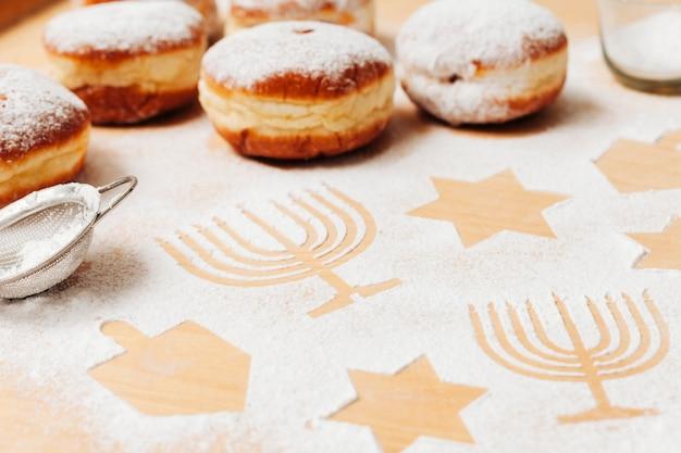Leckere traditionelle süßigkeiten der nahaufnahme
