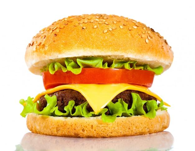 Leckerer und appetitlicher hamburger