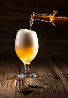 Leckeres amerikanisches bierarrangement