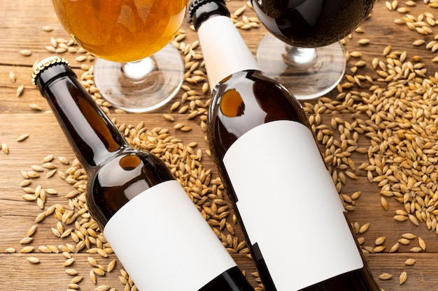 Leckeres amerikanisches biersortiment