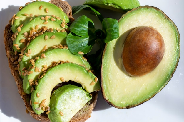 Leckeres avocado-sandwich