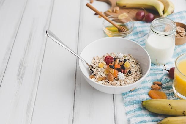 Leckeres essen zum frühstück
