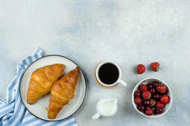 Leckeres frühstück essen concep