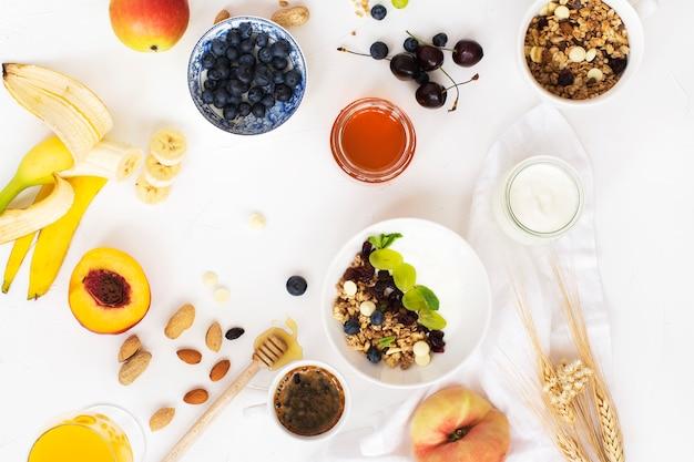 Leckeres frühstück-konzept